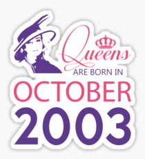It's My Birthday 15. Made In October 2003. 2003 Gift Ideas. Sticker