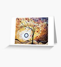 """Contemporary Abstract Landscape """"Golden Embrace"""" by Megan Duncanson Greeting Card"""