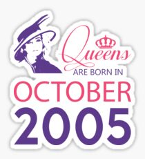 It's My Birthday 13. Made In October 2005. 2005 Gift Ideas. Sticker