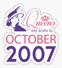 It's My Birthday 11. Made In October 2007. 2007 Gift Ideas. Sticker