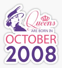 It's My Birthday 10. Made In October 2008. 2008 Gift Ideas. Sticker