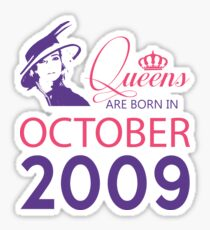 It's My Birthday 9. Made In October 2009. 2009 Gift Ideas. Sticker