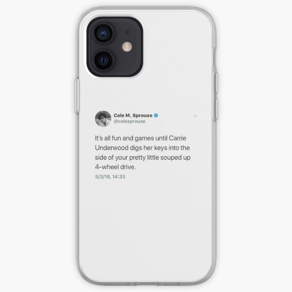 Cole Sprouse Tweet Funda blanda para iPhone