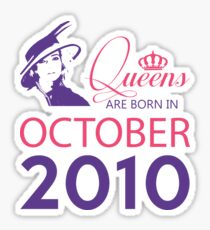 It's My Birthday 8. Made In October 2010. 2010 Gift Ideas. Sticker