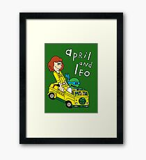 April and Leo Framed Print