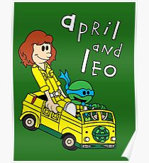 April and Leo Poster