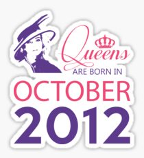 It's My Birthday 6. Made In October 2012. 2012 Gift Ideas. Sticker