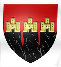 French France Coat of Arms 14879 Blason ville fr Saignon Vaucluse Poster