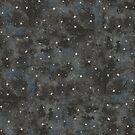 Watercolor Starry Night Black Black by Robayre