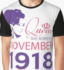 It's My Birthday 100. Made In November 1918. 1918 Gift Ideas. Graphic T-Shirt