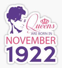 It's My Birthday 96. Made In November 1922. 1922 Gift Ideas. Sticker