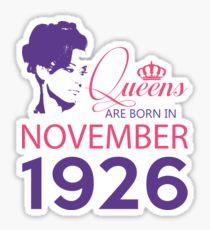 It's My Birthday 92. Made In November 1926. 1926 Gift Ideas. Sticker