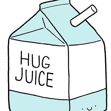 Hug Juice, Blue w/ Face by RyanToday