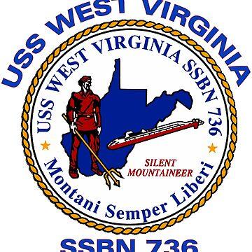 USS West Virginia (SSBN-736) Crest by Spacestuffplus