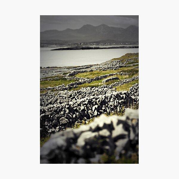Aran walls, Inishmore, Ireland Photographic Print
