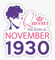 It's My Birthday 88. Made In November 1930. 1930 Gift Ideas. Sticker