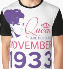 It's My Birthday 85. Made In November 1933. 1933 Gift Ideas. Graphic T-Shirt