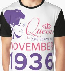 It's My Birthday 82. Made In November 1936. 1936 Gift Ideas. Graphic T-Shirt