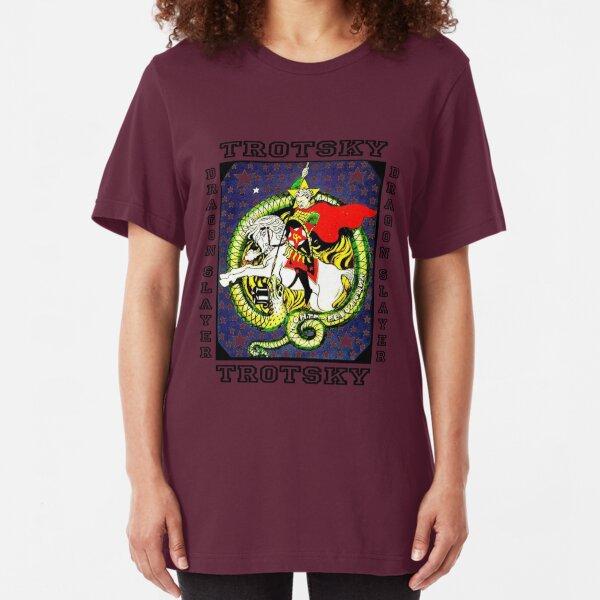 Trotsky Dragon Slayer  Slim Fit T-Shirt