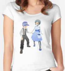 Mass Effect - 50's Fashion Joker and EDI Women's Fitted Scoop T-Shirt