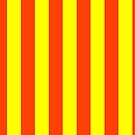 Bright Neon Orange and Yellow Vertical Cabana Tent Stripes by podartist