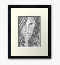 Female Face Framed Print