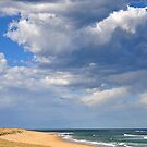The Magic of Sky & Water - Nobbys Beach NSW by Bev Woodman