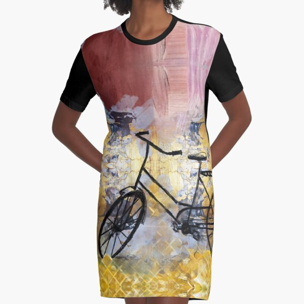 Bicycle Graphic T-Shirt Dress