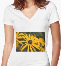 Black-Eyed Susans Women's Fitted V-Neck T-Shirt