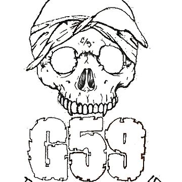 G59 Skull Logo Art - Suicideboys Merch by dishess