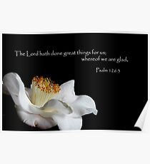 Psalm 126:3 Poster
