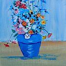 Vase of Flowers by FrancesArt