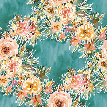 E-BULLIENCE Teal Floral by Barbarian