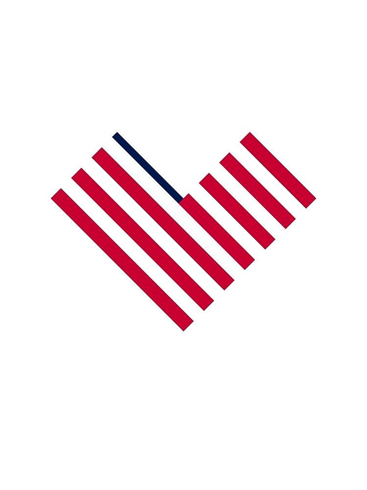Heart Flag logomark, Ev'ry Heart Beats True by EvryHeart