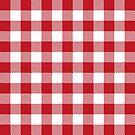 Buffalo Plaid - Red & White by MilitaryCandA