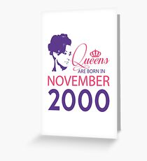 It's My Birthday 18. Made In November 2000. 2000 Gift Ideas. Greeting Card