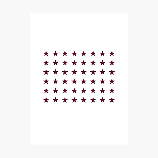American Flag-Inspired Special Edition, 48-Star, Arizona, Evry Heart Beats True Photographic Print