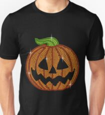 Pumpkin Printed Rhinestone Jackolantern Tshirt T-Shirt