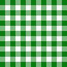 Buffalo Plaid - Green & White by MilitaryCandA
