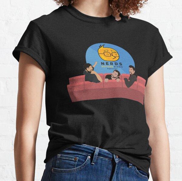 Nerds Before Birds Cinema Classic T-Shirt