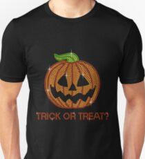 Pumpkin Printed Rhinestone Trick or Treat Jackolantern Tshirt Unisex T-Shirt