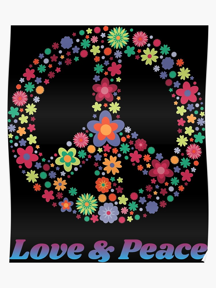 59e8b626455 Peace Sign Gift Love Equality Groovy 70's Hippie