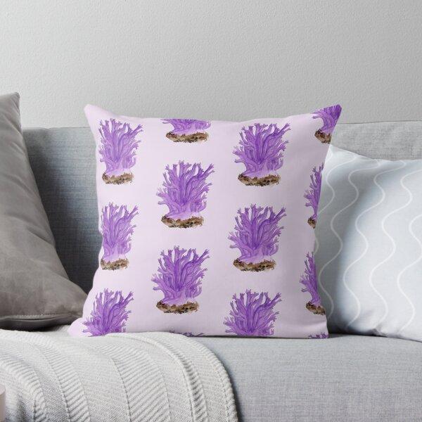 Ramaria fumigata by Kay Smith Throw Pillow