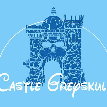 Castle Magic Grey-skull by chriswig