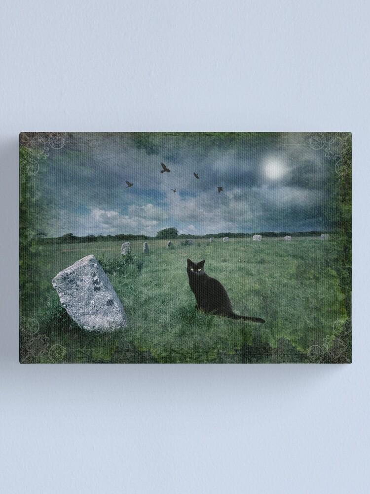 Alternate view of Cornish Black Cat Canvas Print