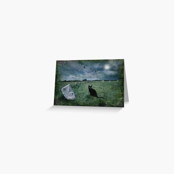 Cornish Black Cat Greeting Card