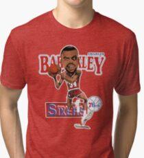 60cdca20d Charles Barkley Philadelphia Basketball Cartoon Worn Look T Shirt Tri-blend  T-Shirt