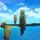 «Islas flotantes de Anima (Paisaje RWBY)» de HometownSciFi