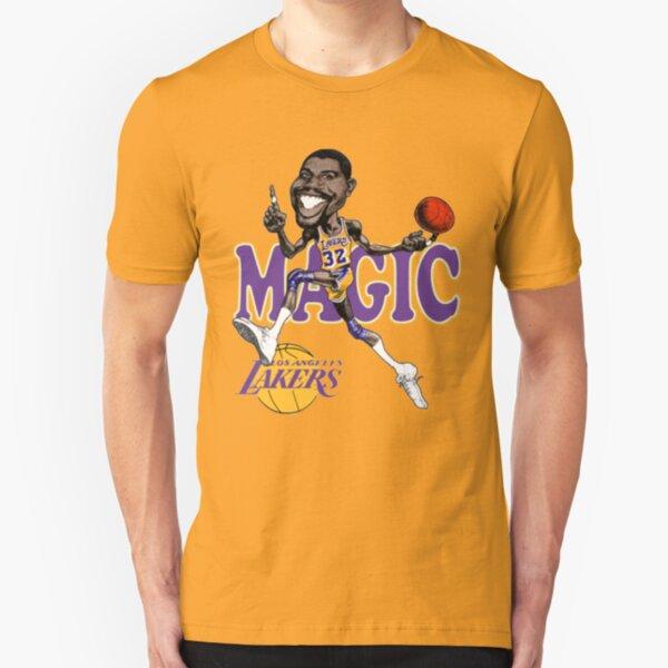 Magic Johnson Retro Cartoon T Shirt Slim Fit T-Shirt