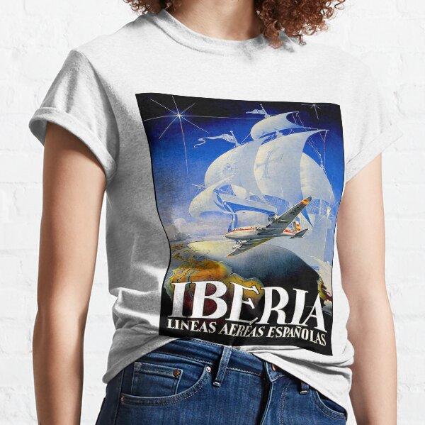 IBERIA AIRLINES: Publicidad publicitaria de viajes vintage Camiseta clásica